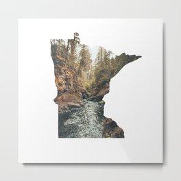 Cascade River State Park Minnesota Outline Metal Print