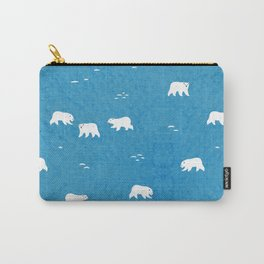 Polar Bears Pattern Carry-All Pouch