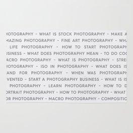 Strong Photography Keywords Marketing Concept Rug