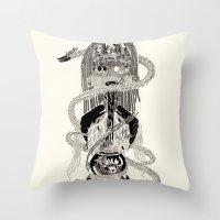 biology Throw Pillows featuring Soul Biology  by Ursula Hart