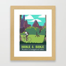 Hike and Bike Trail in Austin, Texas: Art Prints and Postcards Framed Art Print