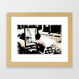 Street Painter - June 1969 Framed Art Print