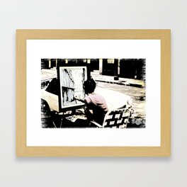 Street Painter - June 1969 Framed Art Print