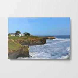 Ocean Cliffs in Santa Cruz Metal Print
