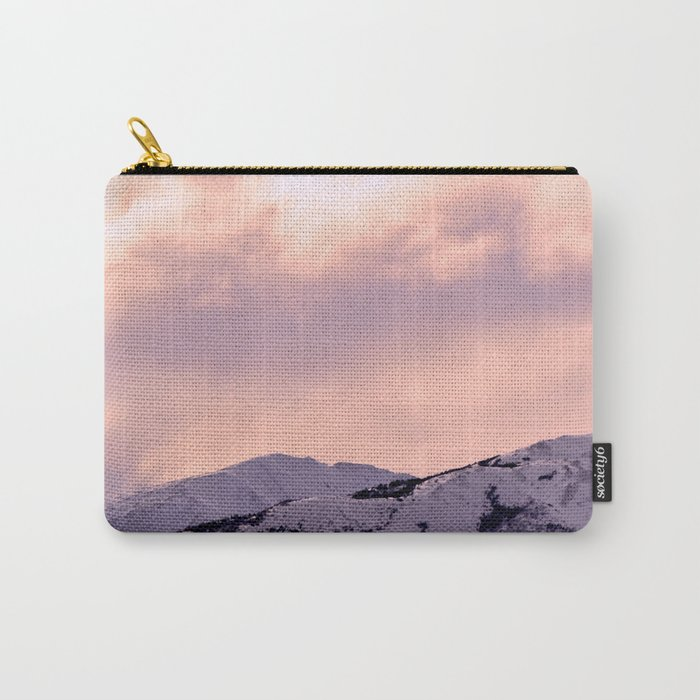 Kenai Mts Bathed in Serenity Rose Carry-All Pouch