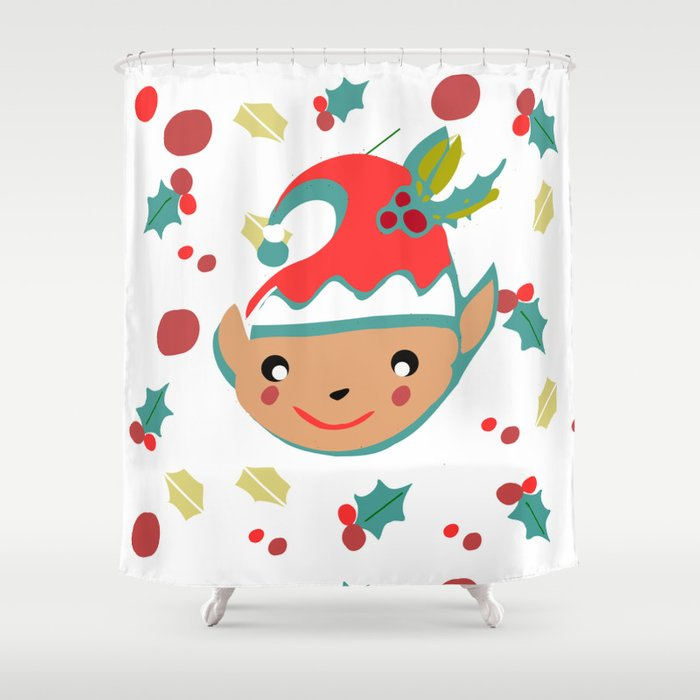 Cute Gnome Shower Curtain