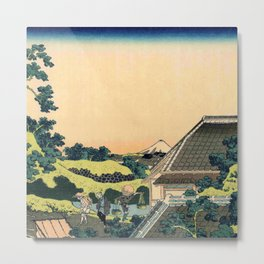 Hokusai -36 views of the Fuji 5 From the mishima pass Metal Print