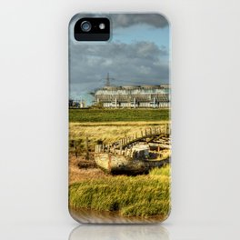 Shipwreck at Saltend iPhone Case