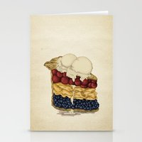 pie Stationery Cards featuring American Pie by Megs stuff