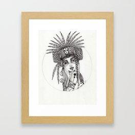 JennyMannoArt Graphite Drawing/Aiyana Framed Art Print
