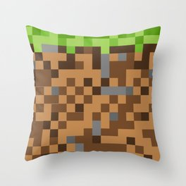 Video Game Blocks Throw Pillow