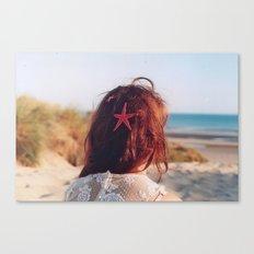 seaside girl Canvas Print