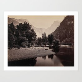 Distant View of the Domes, Yosemite Valley, California Art Print
