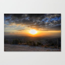 Sunset Over Hezbollah Canvas Print