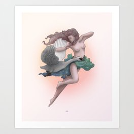 Lady Leda Art Print