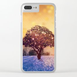 Miracle Tree in Frozen Tundra, Home Decor, Scenic Wall Art, Winter Clear iPhone Case