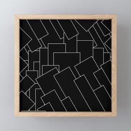 White Lines on Black I Framed Mini Art Print