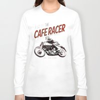 cafe racer Long Sleeve T-shirts featuring Rise of the Cafe Racer II by RiseoftheCafeRacer