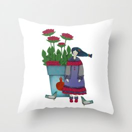 Little Beauty Throw Pillow