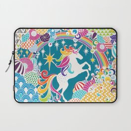Rainbow Unicorn Hand-Cut Papercut Laptop Sleeve