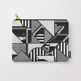 ABSTRACT IN BLACK AND WHITE Carry-All Pouch