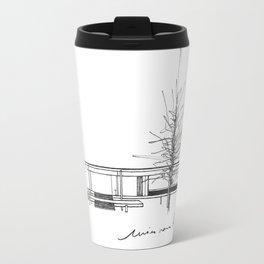 The Barcelona Pavilion -  Ludwig Mies van der Rohe Travel Mug