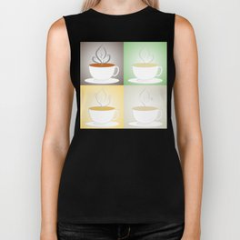Tea Cups: Black, Green, Herbal, White Biker Tank