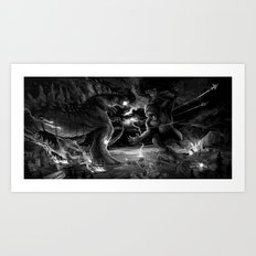 Godzilla vs Kingkong Art Print