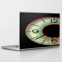 tom waits Laptop & iPad Skins featuring Time Waits For Nobody by Thomas Eppolito