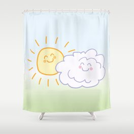 Floof Cloud and Sunny Shower Curtain
