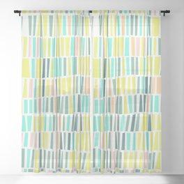 Terrazzo pastel overlay Sheer Curtain