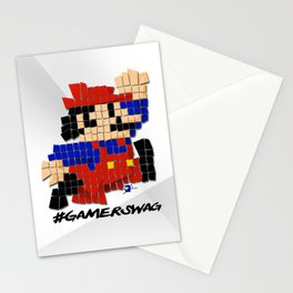 Pixel Mario Stationery Cards