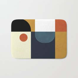 mid century abstract shapes fall winter 4 Bath Mat