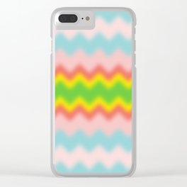ZigZag-BLUR-BlueRedGreenHalf-Yellow - Living Hell Clear iPhone Case