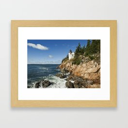 Bass Harbor Lighthouse Framed Art Print