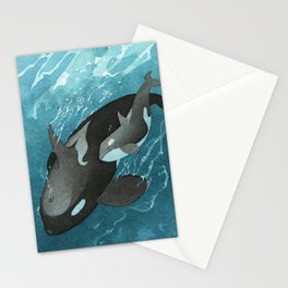 Mother & Baby Orca Stationery Cards