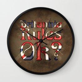 Britannia Rules Ok? Wall Clock
