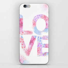 XOXO Floral Watercolor Printable Home Wall Decor iPhone Skin