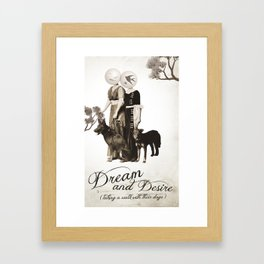 dream and desire -taking a walk with their dogs Framed Art Print