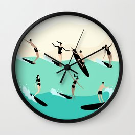 Party Wave Wall Clock