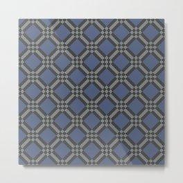 Missing Pieces Geometric Seamless Pattern Metal Print