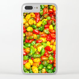 Colorful spicy chili pattern Clear iPhone Case