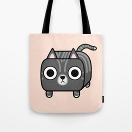Cat Loaf - Grey Tabby Kitty Tote Bag