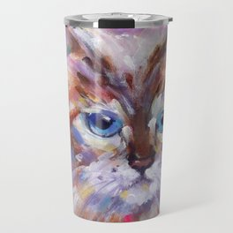 Blue Eyed Birman Travel Mug