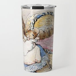 Mouse mother and babies Travel Mug