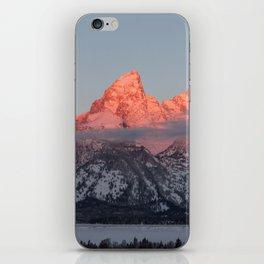 Glowing Pink Sunrise in Grand Teton National Park, Wyoming iPhone Skin