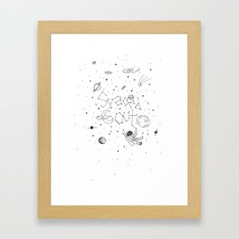 Spaced Out (White) Framed Art Print