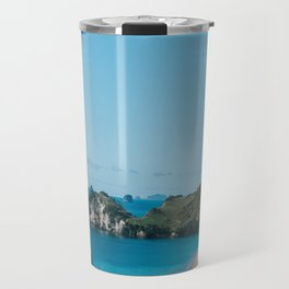 Cathedral Cove, New Zealand Travel Mug