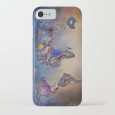 Stars world map. Blue. World map iPhone 7 Slim Case