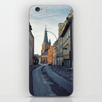 oslo iPhone & iPod Skins featuring Oslo street by Lauren Cassidy